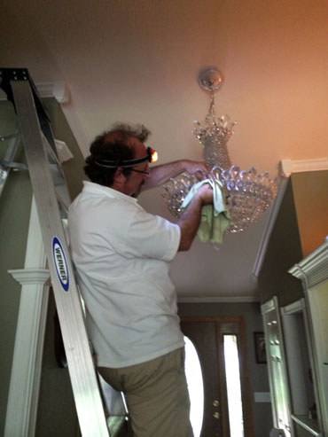 chandelier cleaning west coast